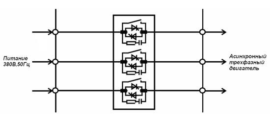 Схема с симисторами в трех